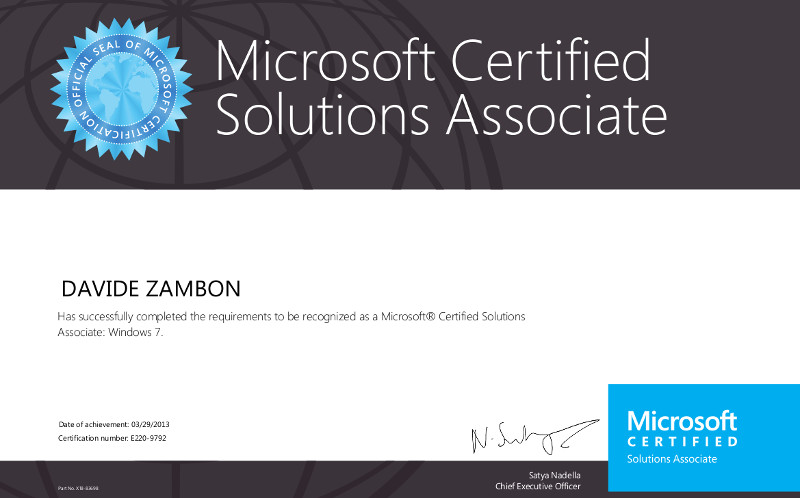 Microsoft Certified Solutions Associate 1 800x500