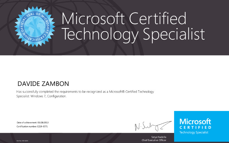 Microsoft Certified Technology Specialist 1 800x500